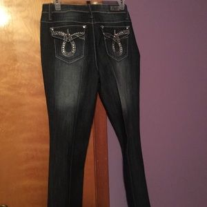 Distressed Dressy Bling Jeans